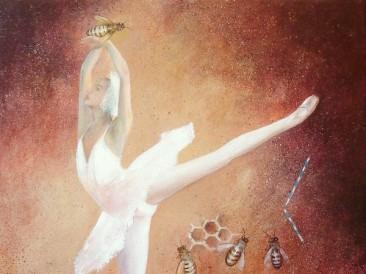 Igra baleta (kombinovana tehnika 46x38cm)