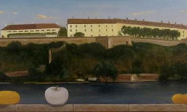 Petrovaradinska tvrđava (ulje na lesonitu 16x55cm)