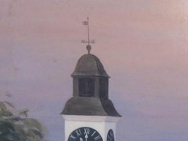 Sat na tvrđavi (ulje na lesonitu 30×22.5cm)