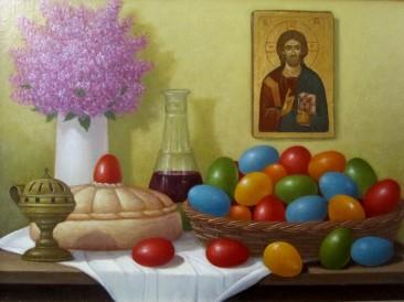 Uskrs (ulje na platnu 40x60cm)