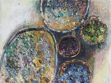 Opojni miris mladog vina (ulje na platnu 40x40cm) 2014/2015.