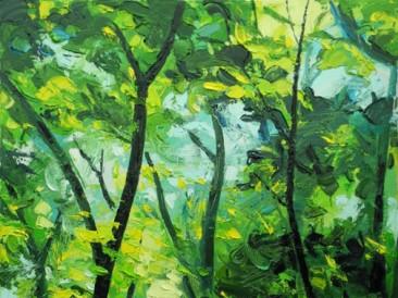 Šuma i svetlo (ulje na platnu 50x60cm)