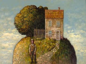 Kuća na vrhu brega (akril 2013. godina)