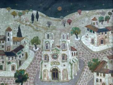 Katedrala na trgu (ulje na platnu 40x40cm)
