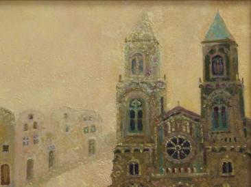 Katedrala (ulje na platnu 40x35cm)
