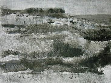Predeo ispunjen tišinom (crtež, kombinovana tehnika na kartonu 30x40cm) 2007.