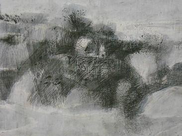 Otvoreni predeo (crtež, kombinovana tehnika na kartonu 30x40cm) 2008.