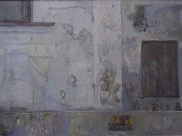 Beli zid (ulje na platnu) 1990. god.