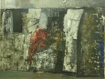 Crni zid (ulje na platnu) 1989. god