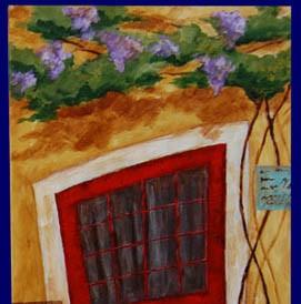 Crvena vrata 2 (ulje na platnu, 30×70 cm)