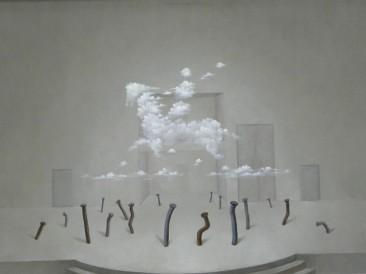 Daske koje život znače, ekseri (ulje na platnu 60x80cm) 2013.god.