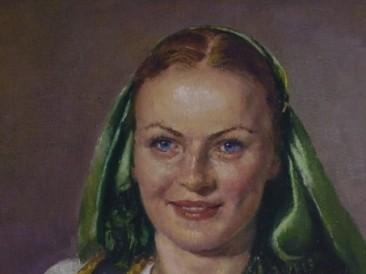 Devojka sa Pala (ulje na platnu) 2002. god.