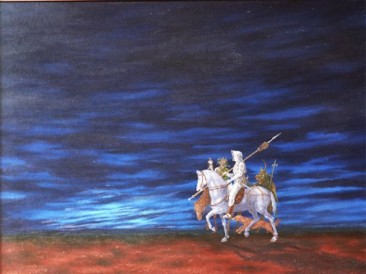 Sećanje na A.D.-Plavi vitez (ulje na platnu 80x100cm) 2000.god.