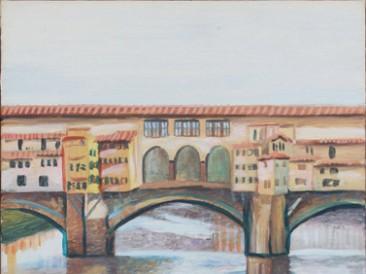 Ponte Vecchio (ulje na platnu, 45x25cm) 2007.god.