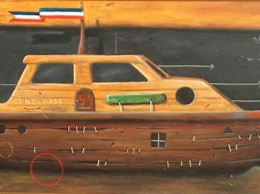 Odbegli brod (ulje na lesonitu, 50x20cm)