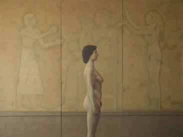 Zamena prisutnosti – Egipat (platno,ulje,akril,pesak, 210x170cm) 1980.god.