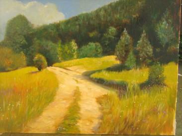 Šumski put (ulje na platnu, 30x40cm)