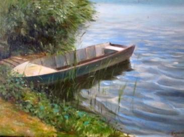 Čamac (ulje na platnu,  30x40cm)