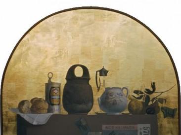 Predmeti na stolu (ulje na dasci, 70x80cm) 1981.