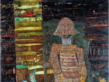Usamljeni samuraj (ulje na platnu, 2008.god.)