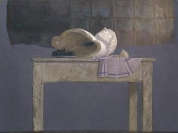 Glava na stolu (ulje na dasci 80x90cm) 1984.