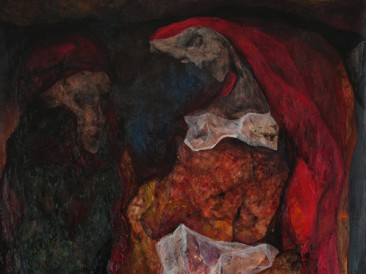 Listening (oil on canvas, 200x140cm) 2013.