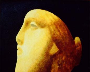 Antičke glave (tempera na kartonu, 35x25cm) 1996.