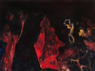 Middle (oil on canvas, 200x190cm) 2013.