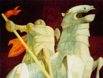 Dobri jahač (jajčana tempera) 1995.