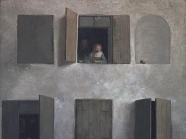 Prozori (ulje na platnu 40x40cm) 1978.