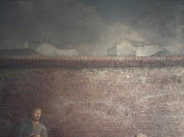 Pred zidom (ulje na platnu 115x100cm) 1977.