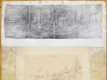 Mrtva priroda (olovka, kolaž 69x50cm) 1997.
