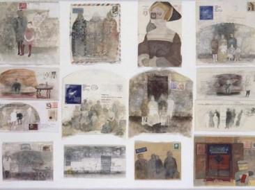 Neka nenapisana pisma (akvarel, gvaš, tabla 70x100cm) 1991.