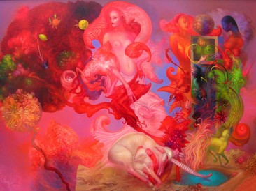 Time when Gods were Walking on Earth (oil on canvas, 135x195cm)
