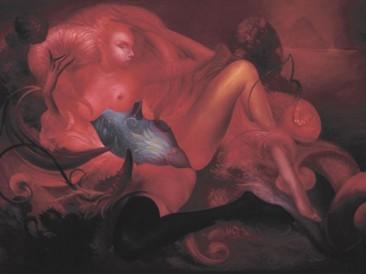 Nude (oil on canvas, 100x150cm)