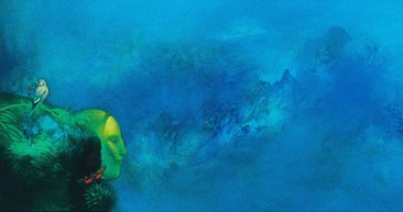 By the Coast (oil on canvas, 60x180cm)