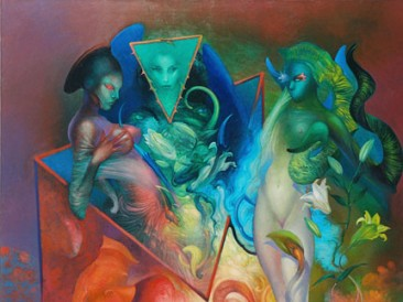 Some New Angels (oil on canvas, 195x162cm)
