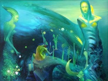 Let's fertilize eternal secrets (oil on canvas, 60x75cm)