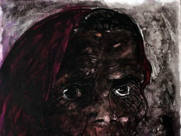 Žena (kombinovana tehnika, 80x100cm) 2014.