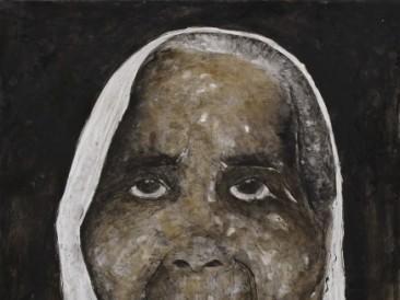 Žena III (kombinovana tehnika, 110x150cm) 2014.