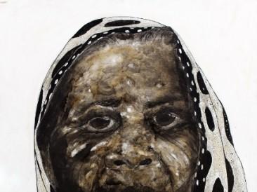 Žena IV (kombinovana tehnika, 110x150cm) 2014.