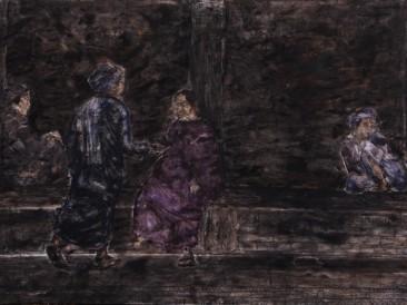 Darivanje (kombinovana tehnika, 200x130cm) 2014.