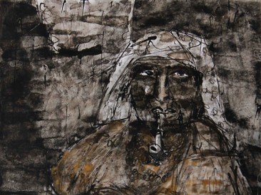 Indian-woman-I-mixed-media-25-x-35-cm-2014_1