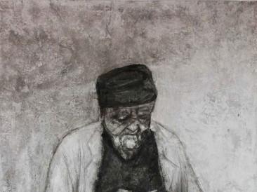 Portret-XIII-kombinovana-tehnika-100-x-180-cm-2015