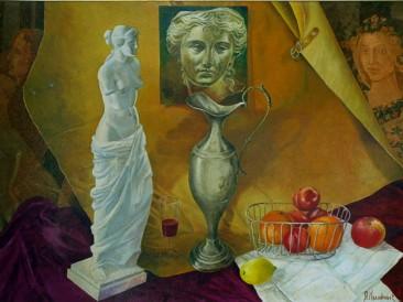 Afrodita i flora (ulje na platnu, 100x70cm) 2006.god.