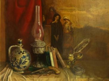 Istorija (ulje na platnu, 100x70cm) 1981.god