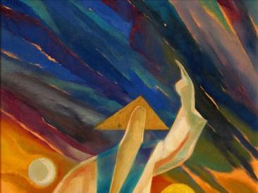 Bog razdvaja nebo i more (ulje na platnu, 50x70cm) 2005.god.