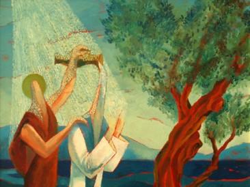 Sveti Jovan krstitelj Hrista na Jordanu (ulje na platnu,  50x70cm) 2005.god.