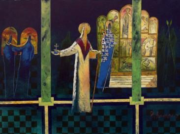 Skaska o kralju (ulje na platnu,  100×70 cm) 2007.god.