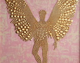 1. Dusko Trifunovic - Golden Angel - Tehnics - Metal, rivets, gold plate, oil on canvas - 120cm x 100 cm - Price - 15.000ÔéČ
